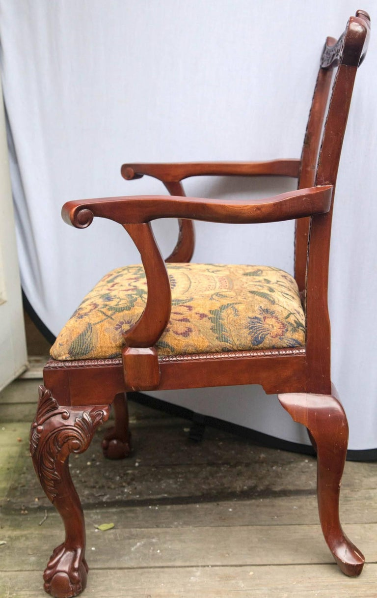 Set of 12 Chippendale Style Dining Chairs For Sale 3