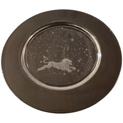 "Set of 12 ""Constellation"" Engraved Crystal Plates by Don Wier for Steuben Glass"