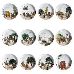 Set of 12 Corteo Plates by Vito Nesta for Les Ottomans