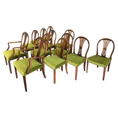 Set of 12 Danish Deco Dining Chairs by Frits Henningsen
