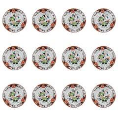 Set of 12 Davenport Stone China Soup Plates