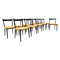 Set of 12 Dining Chairs by Alfred Hendrickx for Belform, Belgium, 1958