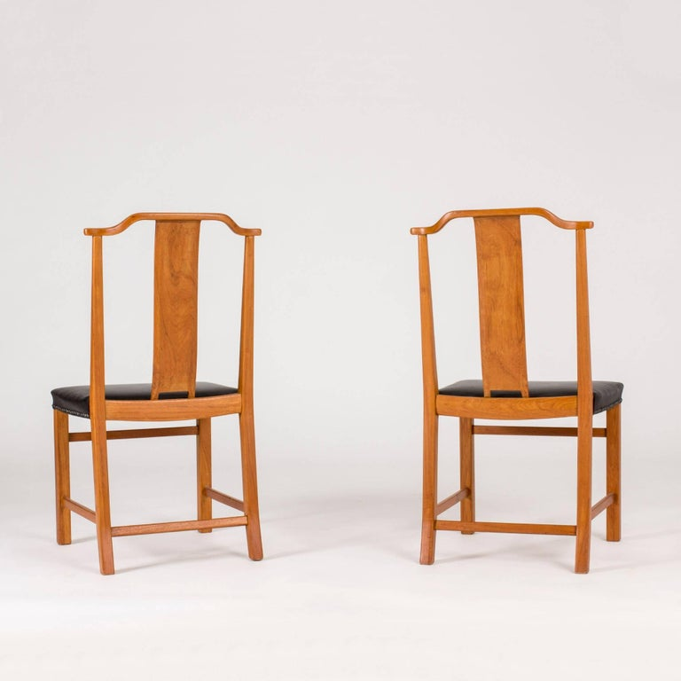 Set of 12 Dining Chairs by Axel Larsson In Excellent Condition For Sale In Stockholm, SE