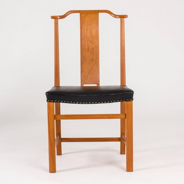 Mid-20th Century Set of 12 Dining Chairs by Axel Larsson For Sale