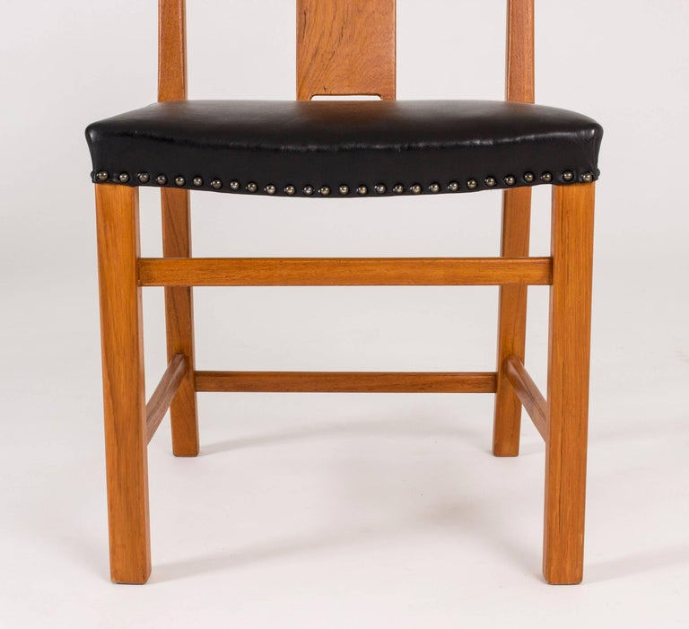 Set of 12 Dining Chairs by Axel Larsson For Sale 1
