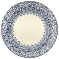 Set of 12 English Blue and White Dinner Plates