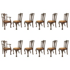 Set of 12 English Chippendale Style 'Late 19th Century' Chairs