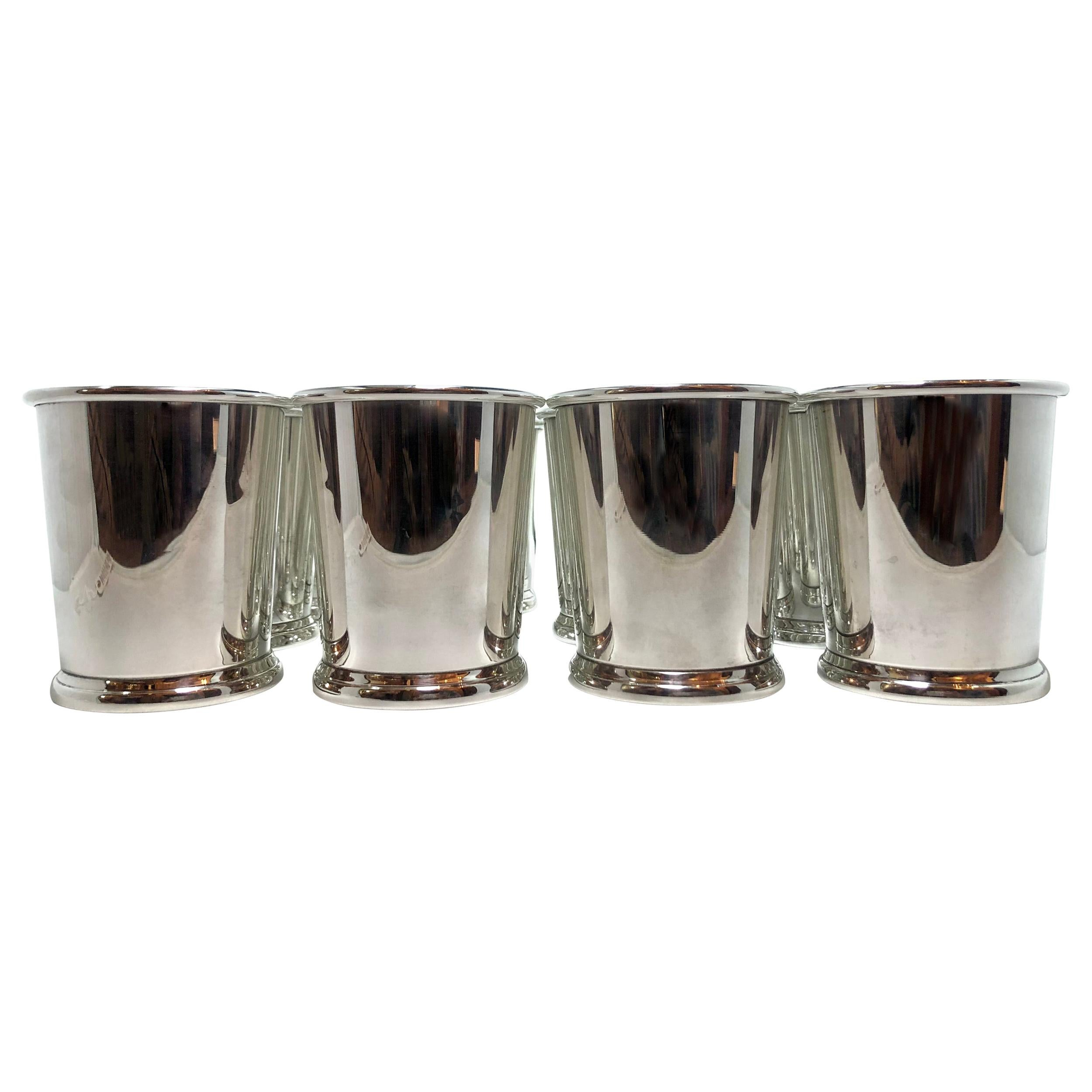 Set of 12 Estate Sterling Silver Mint Julep Cups, Hallmarked Web Silver Company