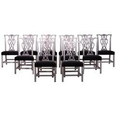 Set of 12 European Chairs, 19th Century