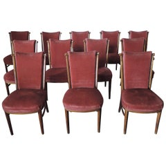 Set of 12 Fine Art Deco German Dining Chairs
