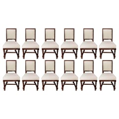 Set of 12 French 19th Century Mahogany Dining Chairs
