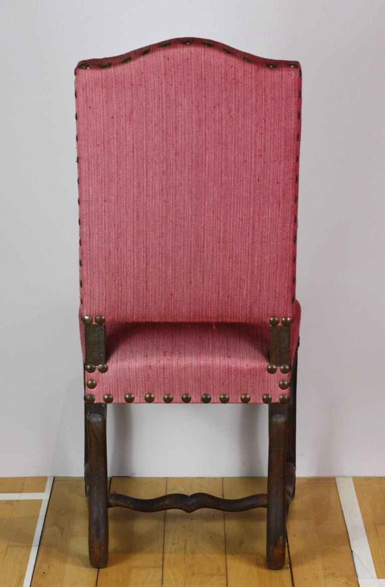 Set of 12 French Early 19th Century Upholstered Os De Mouton Dining Chairs For Sale 3