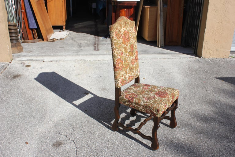 Set of 12 French Louis XIII Style Os De Mouton Dining Chairs 1900 Th Century.  For Sale 6