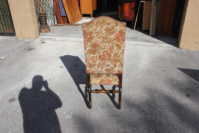 Set of 12 French Louis XIII Style Os De Mouton Dining Chairs 1900 Th Century.  For Sale 7