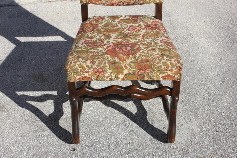 Set of 12 French Louis XIII Style Os De Mouton Dining Chairs 1900 Th Century.  For Sale 8
