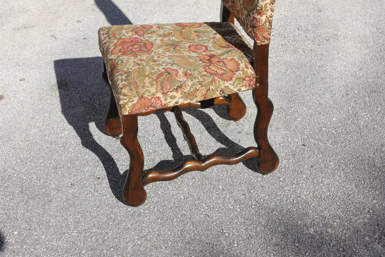 Set of 12 French Louis XIII Style Os De Mouton Dining Chairs 1900 Th Century.  For Sale 10