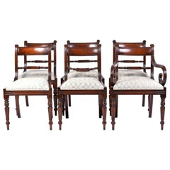 Set of 12 George VI Style Mahogany Dining Chairs