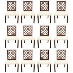 Set aus 12 georgischen Gitterstühlen