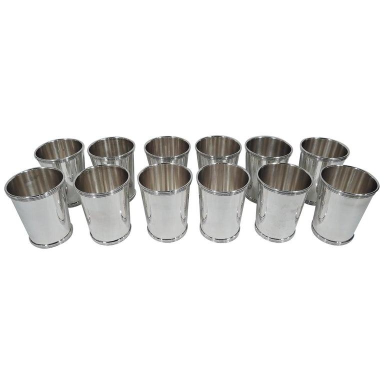 Set of 12 International Sterling Silver Mint Julep Cups