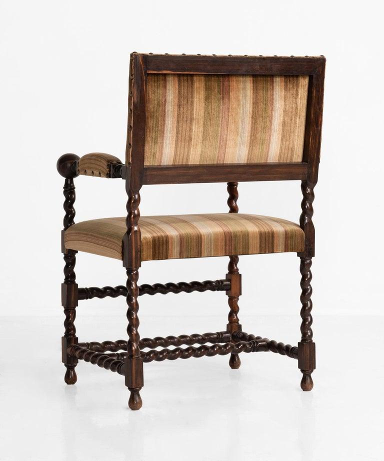 Velvet Set of '12' Macassar Ebony Chairs, France, 19th Century For Sale