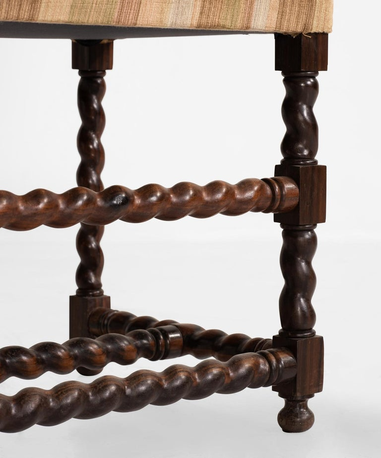 Set of '12' Macassar Ebony Chairs, France, 19th Century For Sale 1