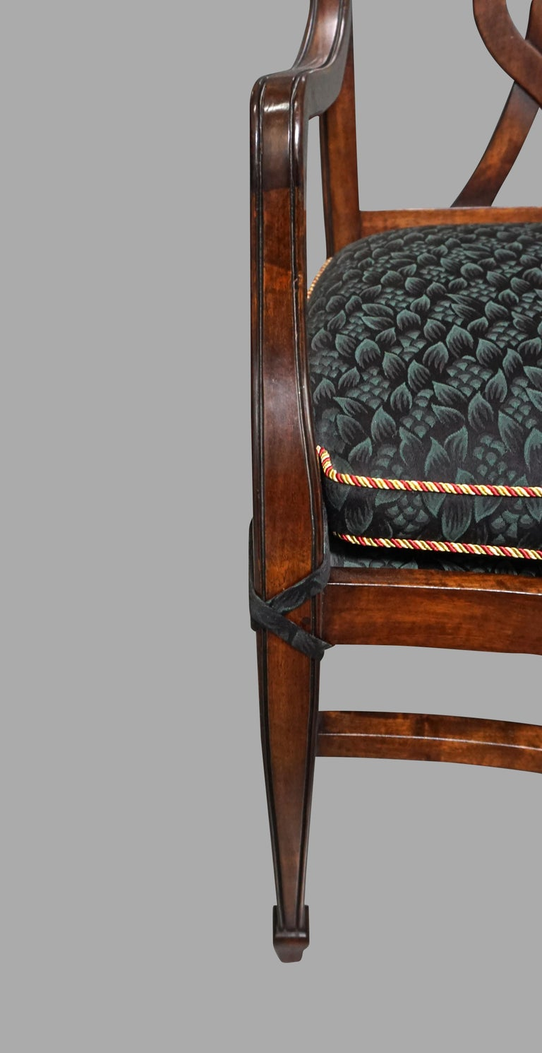 Set of 12 Mahogany Dining Chairs in the Neoclassical Taste For Sale 5