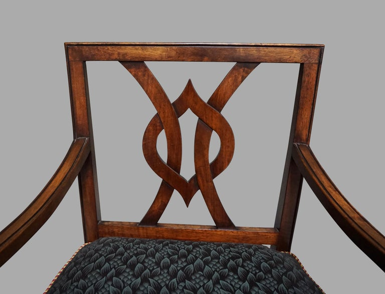 Set of 12 Mahogany Dining Chairs in the Neoclassical Taste In Good Condition For Sale In San Francisco, CA