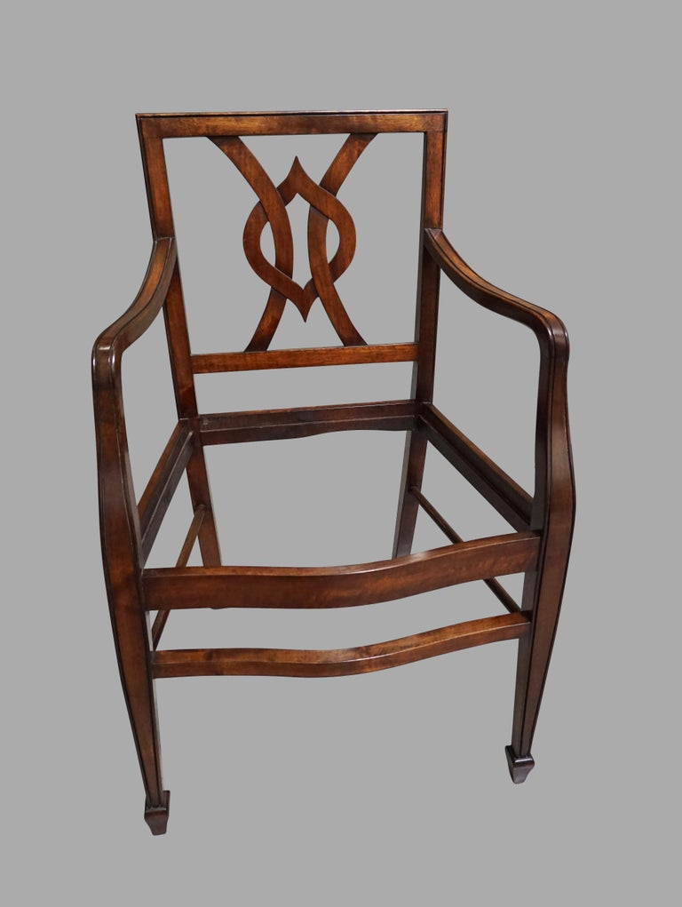 Contemporary Set of 12 Mahogany Dining Chairs in the Neoclassical Taste For Sale