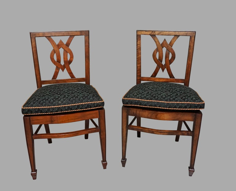 Set of 12 Mahogany Dining Chairs in the Neoclassical Taste For Sale 1