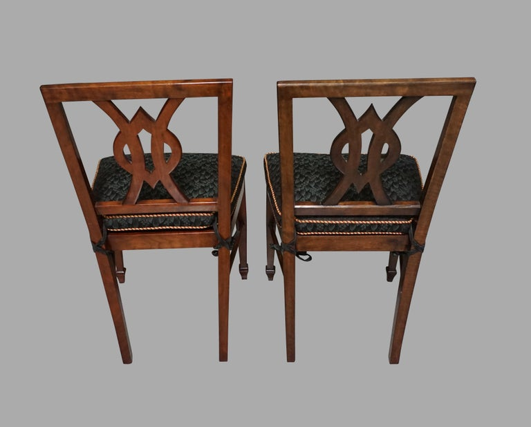 Set of 12 Mahogany Dining Chairs in the Neoclassical Taste For Sale 2