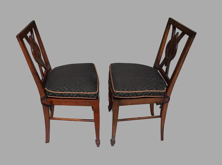 Set of 12 Mahogany Dining Chairs in the Neoclassical Taste For Sale 3
