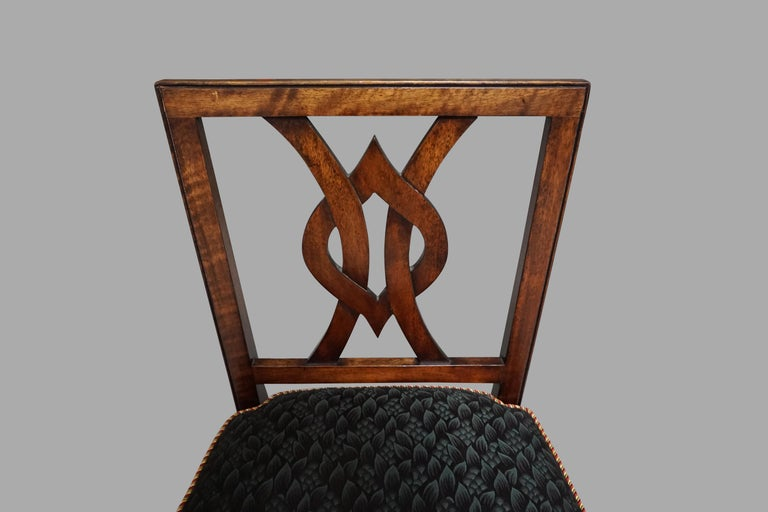 Set of 12 Mahogany Dining Chairs in the Neoclassical Taste For Sale 4