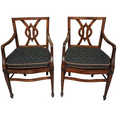 Set of 12 Mahogany Dining Chairs in the Neoclassical Taste