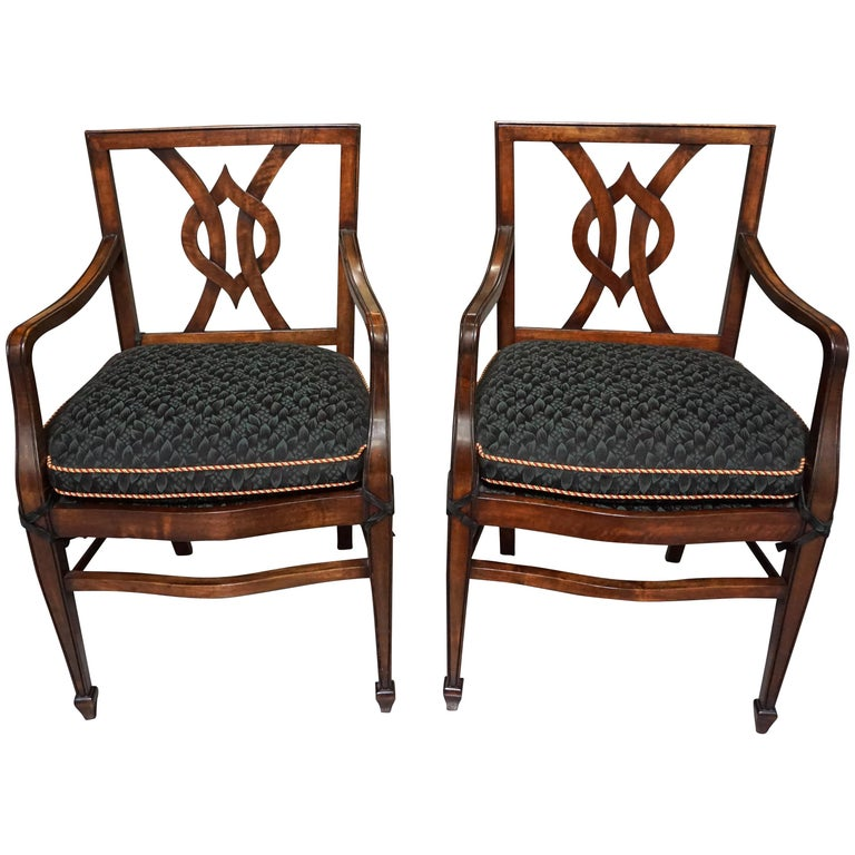 Set of 12 Mahogany Dining Chairs in the Neoclassical Taste For Sale