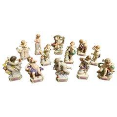 """Set of 12 Meissen """"Motto Children"""" Figures"""