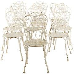 Set of 12 Metal Garden Chairs