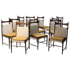 "Set of 12 Mid-Century Modern Cantu Alta ""Tall Chairs"" by Sergio Rodrigues, 1950s"