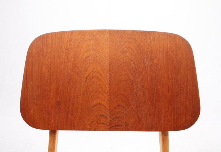 Danish Set of 12 Midcentury Side Chairs in Teak and Oak by Børge Mogensen