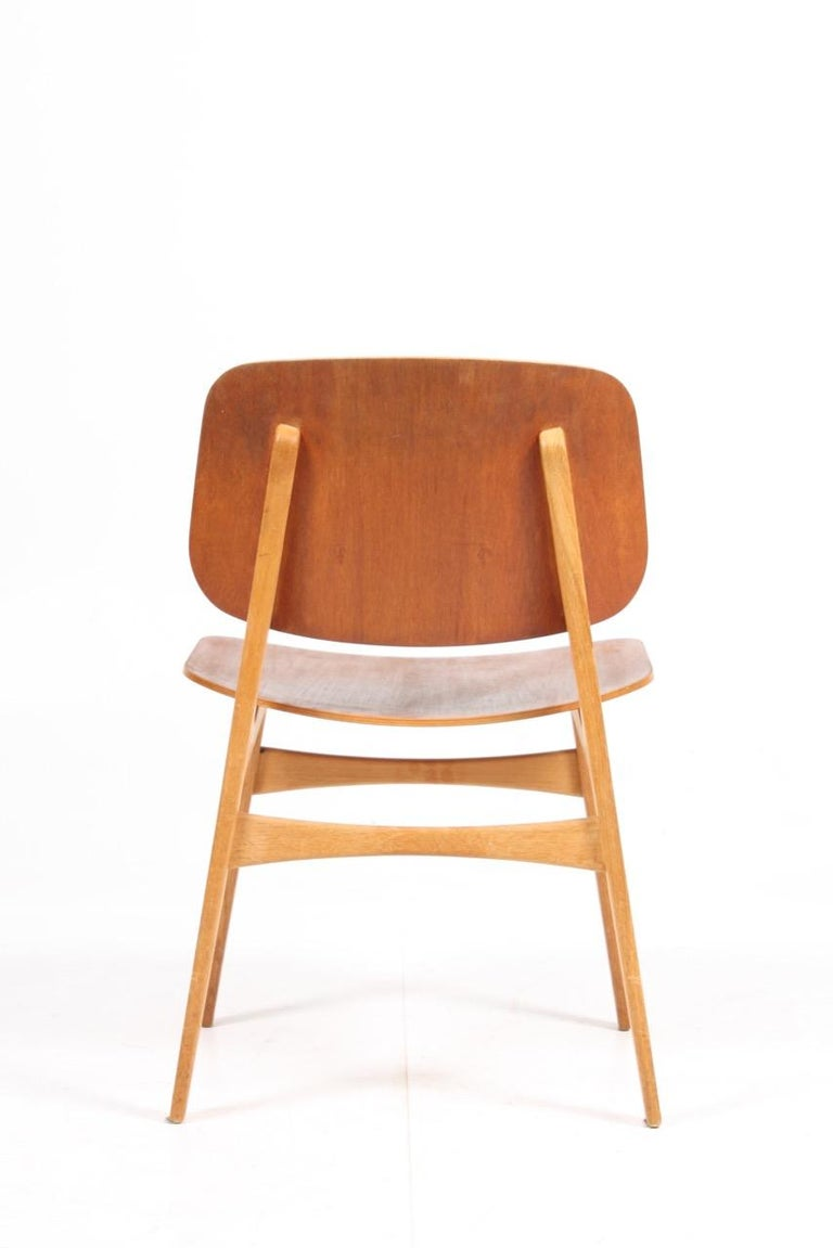 Set of 12 Midcentury Side Chairs in Teak and Oak by Børge Mogensen 1