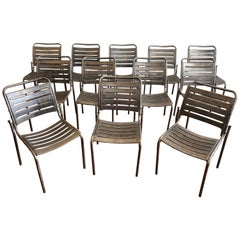 Set of 12 Modern Metal Chairs