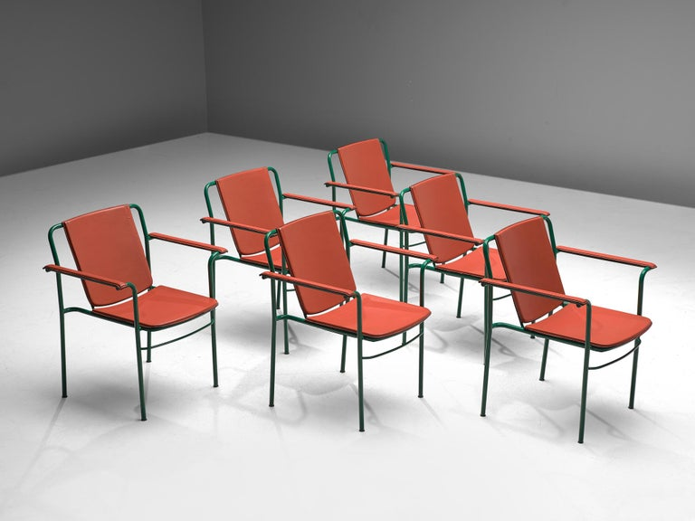 Italian Set of 12 'Movie' Chairs by Mario Marenco for Poltrona Frau For Sale