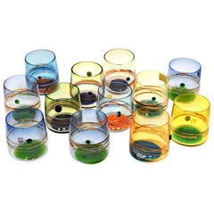 Set of 12 Murano Tumblers, Cenedese Sfumato 1960, Young Collection, Masterpieces