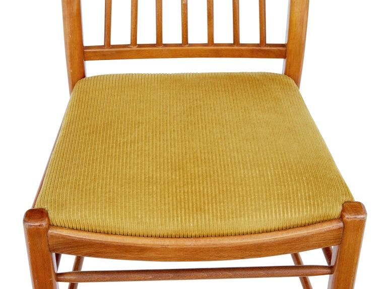 Set of 12 Napoli Dining Chairs by David Rosen for Nordiska Kompaniet In Good Condition For Sale In Debenham, Suffolk