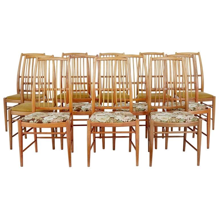 Set of 12 Napoli Dining Chairs by David Rosen for Nordiska Kompaniet For Sale