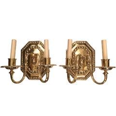 Set of 12 Neoclassic Bronze Sconces