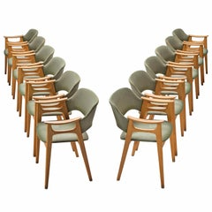 Set of 12 Norwegian Dining Chairs