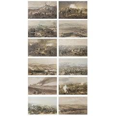 Set of 12 Original Antique Prints of the Crimean Wars, circa 1860