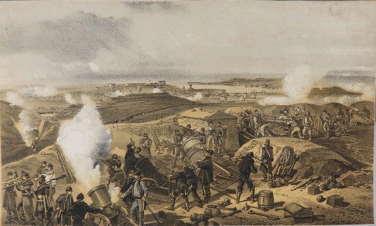English Set of 12 Original Antique Prints of the Crimean Wars, circa 1860