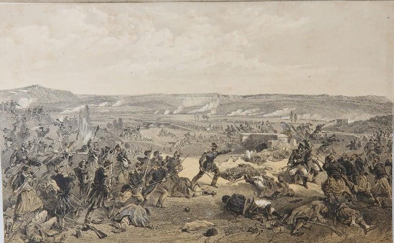 Paper Set of 12 Original Antique Prints of the Crimean Wars, circa 1860