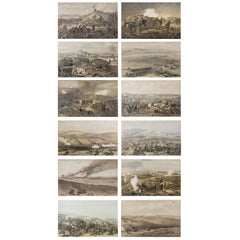 Set of 12 Original Antique Prints of the Crimean Wars, circa 1860